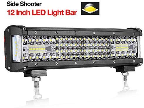 Teochew Led 12 Inch Led Light Bar Quad Row Side Shooter Light Bar Flood Spot Combo Fog Lights Driving Lights For Truck J Led Light Bars Led Lights Bar Lighting