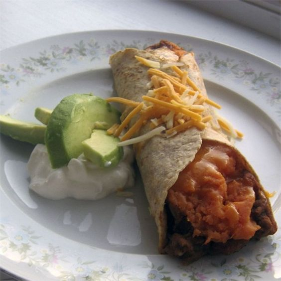 "Addictive Sweet Potato Burritos I ""These are great. We dip them in a ..."