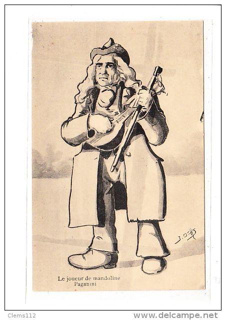 BELGIUM : LIEGE : le joueur de mandoline paganini - tres bon etat