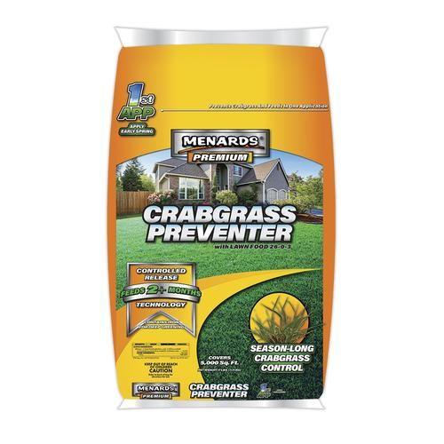 Menards Premium Crabgrass Preventer Lawn Fertilizer 5000 Sq Ft Central Climate Lawn Fertilizer Crab Grass Crabgrass Preventer