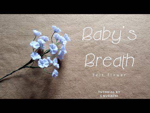 Diy Felt Baby Breath Cara Membuat Bunga Baby Breath Isian Buket Dari Kain Flanel Mudah Tanpa Lem Youtu Felt Flower Tutorial Felt Flowers Felt Flowers Diy