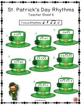 St Patrick's Day Rhythm and Aural Activities SET 1.   ♫ CLICK through to check out the set or save for later!  ♫