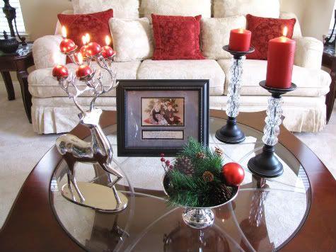 Christmas coffee table decor