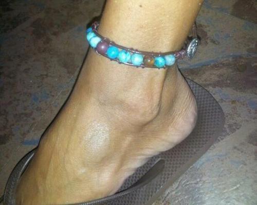 Wesblock genuine leather wrap anklets, $10