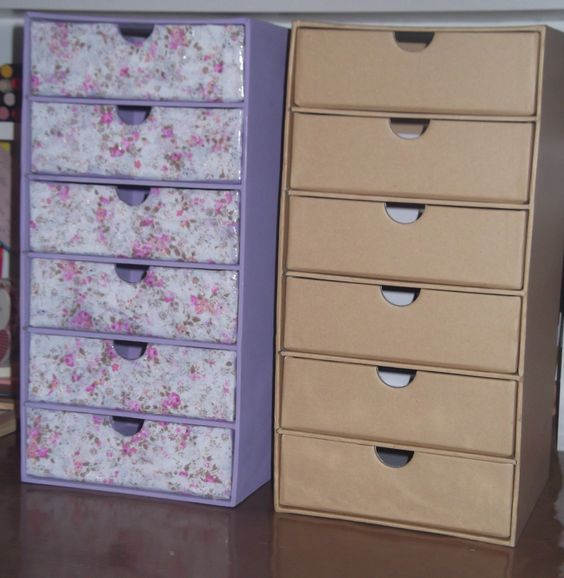 Before and after decopatch drawers creative pinterest for Decopatch meuble