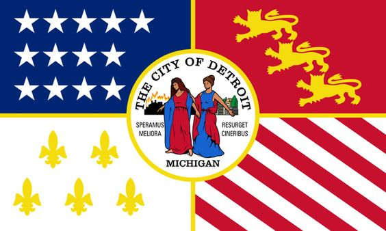Detroit, Michigan | 59 Interesting City Flags, From Best To Worst