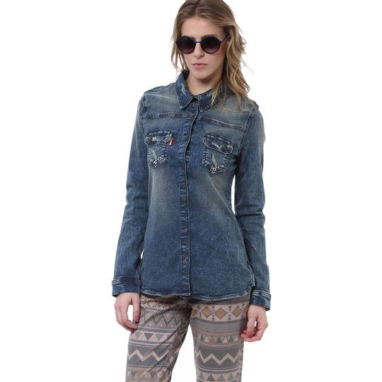 Camisa Jeans Azul Dopping