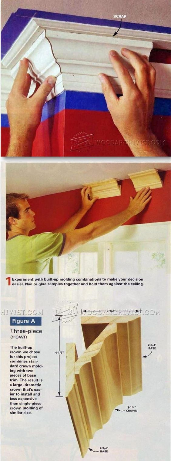 Is crown molding expensive - Crown Molding For The Home Gingerbread Pinterest Moldings Crown And Custom Cabinets