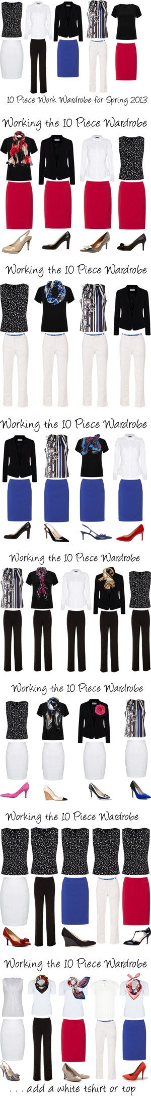 Working the 10 Piece Wardrobe ~ Spring 2013 by annabouttown on Polyvore…: