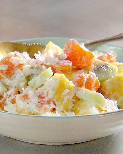 Modern Ambrosia Salad - Martha Stewart Recipes: Tropical Fruit, Stewart Recipe, Mandarin Orange, Salad Recipe, Ambrosia Fruit Salad, Healthy Snack, Fruit Recipe, Healthy Food, Recipes Salad