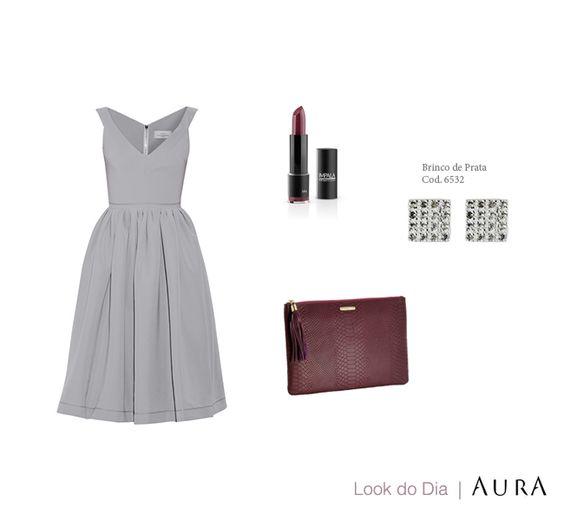 """Um look romântico para conquistar o efeito """"uau"""" neste #DiaDosNamorados! (Cod. no #Brinco: 6532) #prata #joias #lookdodia #aura"""