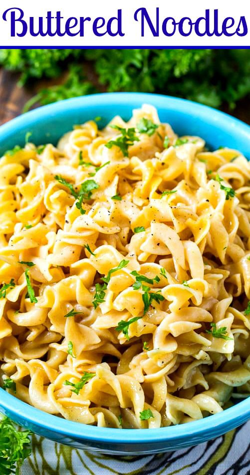 Buttered Noodles Spicy Southern Kitchen Recipe Buttered Noodles Egg Noodle Side Dish Pasta Sides