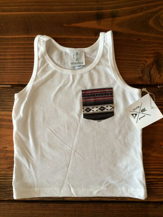 The Aztec Pocket Tee Toddler Pocket tshirt Kids by SandiLake, $14.00