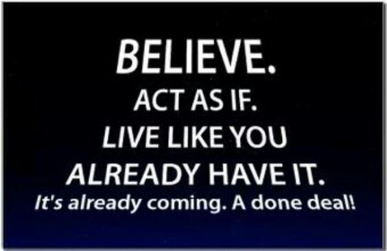 Dreaming and believing are a major part of success!!