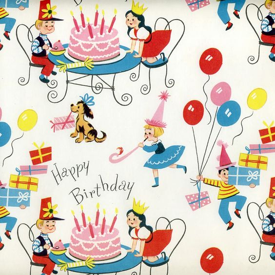 Prettie Parties: PRETTIE...VINTAGE WRAPPING PAPER