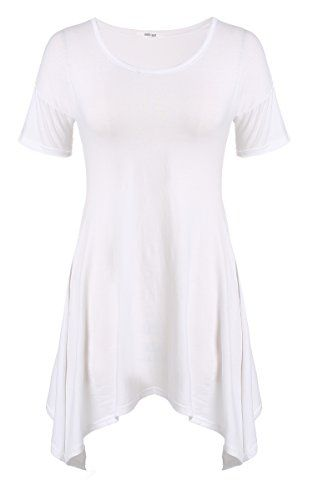 Meaneor Women's Short Sleeve Comfy Loose Fit Long Tunic Top With Various Hem Meaneor http://www.amazon.com/dp/B00WGIL562/ref=cm_sw_r_pi_dp_vJzYvb09X9V01