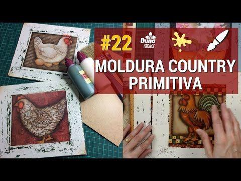 MOLDURA COUNTRY PRIMITIVA COM VELA! PINTANDO COM O ❤ AULA 22 TÂNIA MARQUATO - YouTube