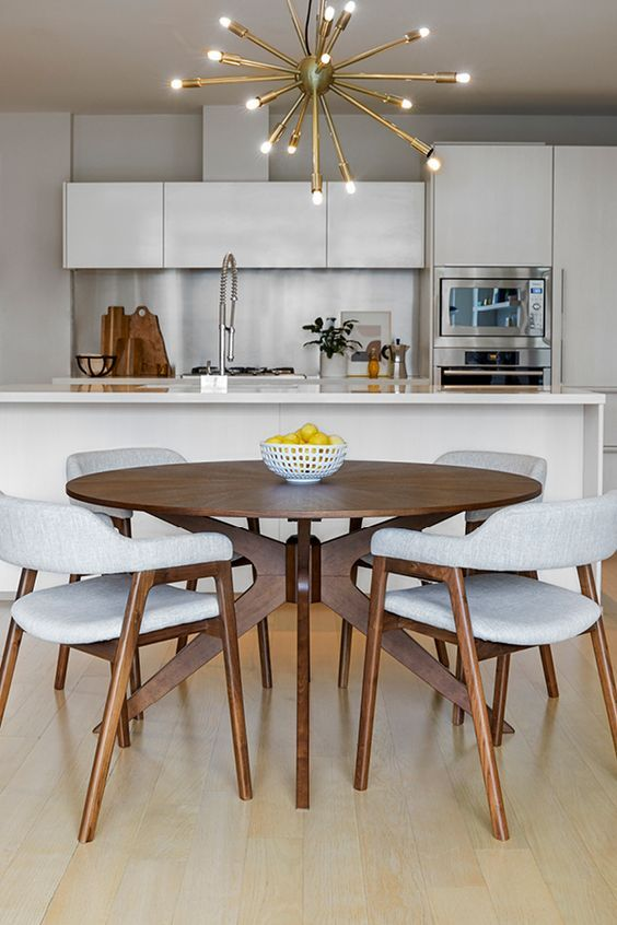 Conan Round Dining Table In 2020 Apartment Dining Small Dining