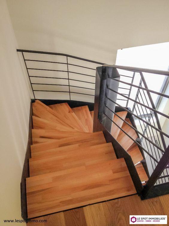 sans vis a vis loft   vue dégagée  jardin  escalier  terrasse
