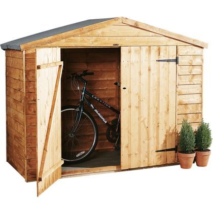 Forest Wooden Bike Store - 6ft 11in x 2ft 9in