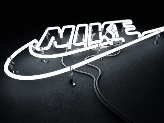 Nike 3D Neon by Rizon Parein, via Behance