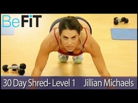 Jillian is the perfect trainer - tough but encouraging, honest and ballsy! Day one of level one for me today and I loved it! Really tough but I did the whole workout with no breaks and felt awesome afterwards.