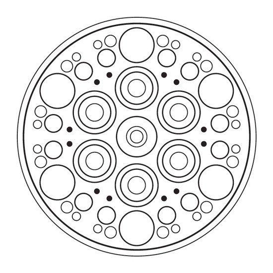 Simetria En Circulos En 2020 Mandalas Geometricas Mandalas