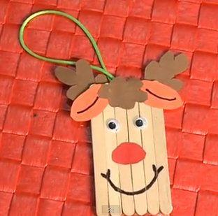 Adorno de navidad para ni os reno con palitos de helado - Manualidad ninos navidad ...