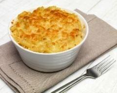 Gratin de pâtes sur lit de poireaux et poulet (facile, rapide) - Une recette CuisineAZ