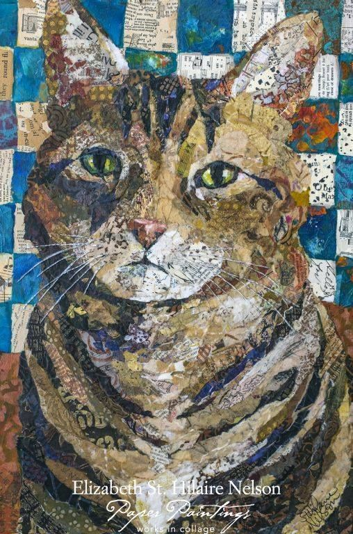 Elizabeth St Hilaire Nelson Harley In 2020 Cat Collage Paper Collage Art Collage Art