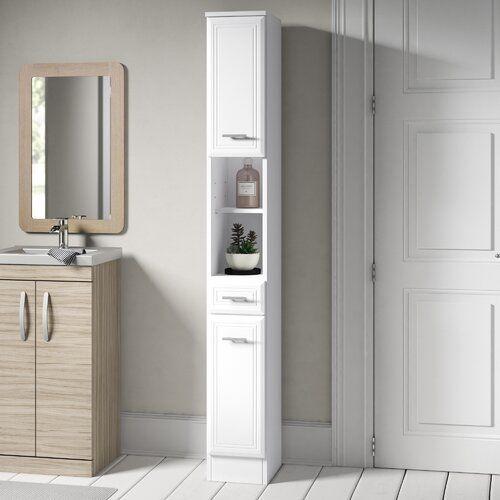 Brayden Studio Tysen 25cm X 190cm Free Standing Cabinet Wayfair Co Uk In 2020 Free Standing Cabinets Tall Cabinet Storage Bathroom Tall Cabinet
