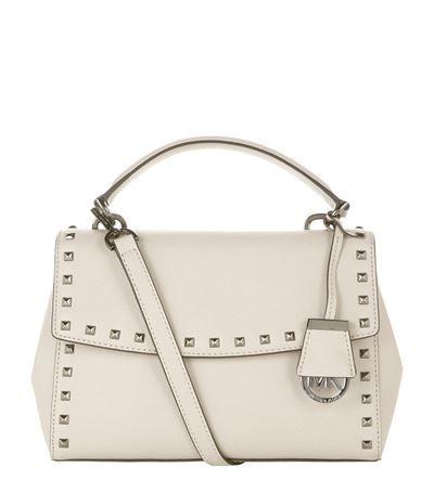 MICHAEL MICHAEL KORS Small Studded Ava Satchel. #michaelmichaelkors #bags #shoulder bags #hand bags #leather #satchel #