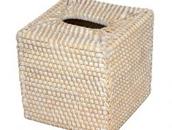 Boîte à mouchoirs en osier