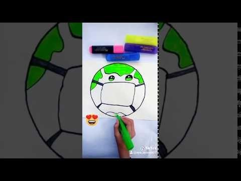 كيفية رسم الكرة الأرضية و هي تضع كمامة رسم للمبتدئين Youtube Artist Fictional Characters Art