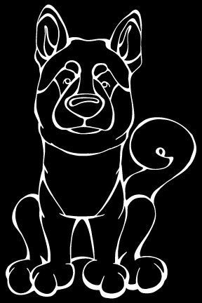 The Decal Dog of the Day is the Shiba Inu, Show off your love for your Soulmutt with a Decal Dog Car Window Sticker. #decaldogs #dogsofpinterest #ShibaInu