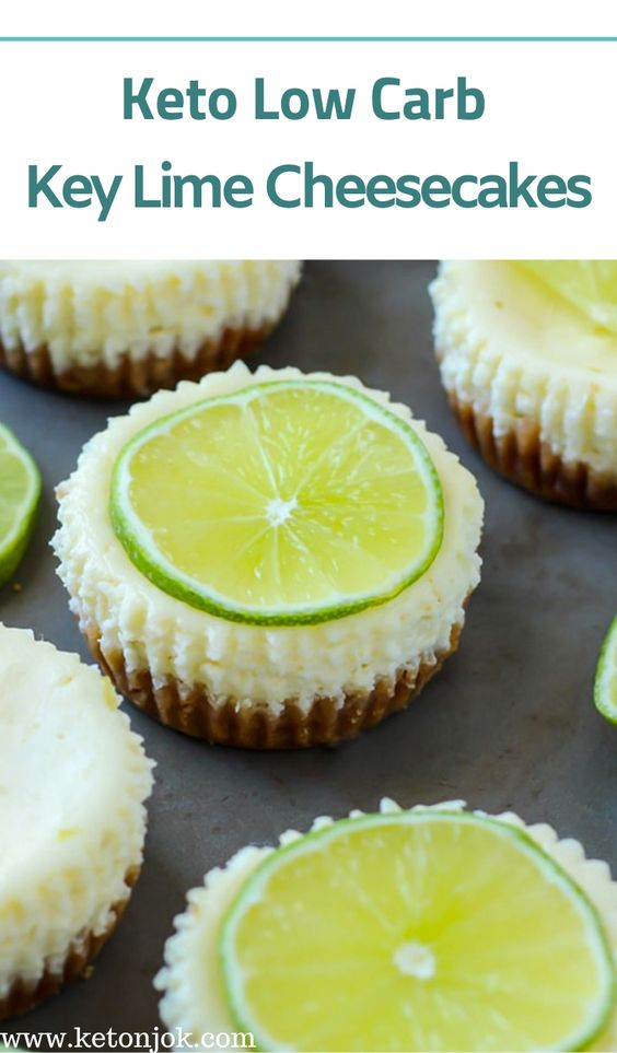 Keto Low Carb Key Lime Cheesecakes Recipe