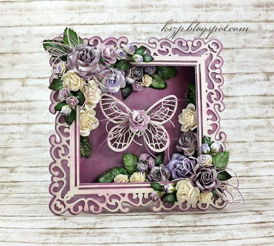 Wild Orchid Crafts: Shadow box