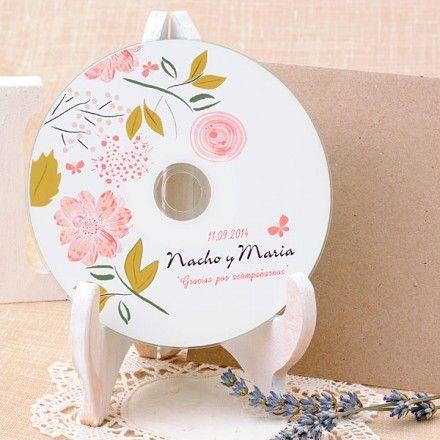 Detalle de boda: cds personalizados Boho Chic