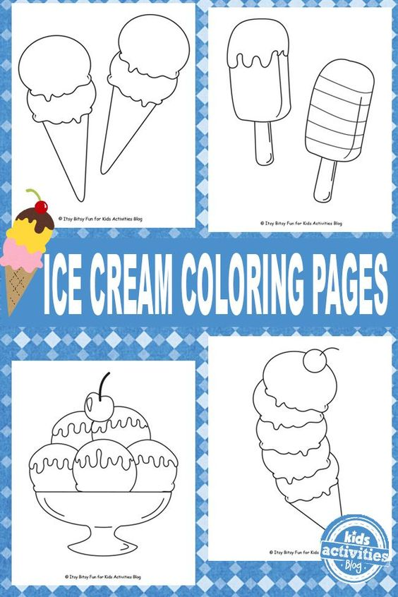 Ice Cream Coloring Pages Free Kids Printable Adult