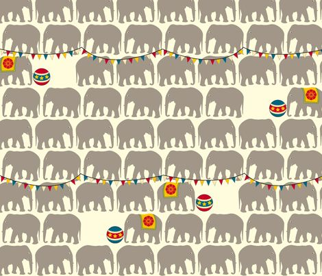 at the circus via spoonflower