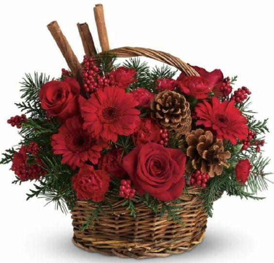 Arreglos de Navidad bonitos con plantas: