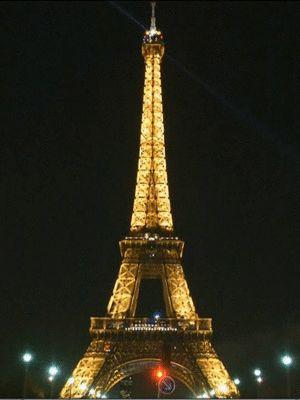 GIF 300x400 - Torre Eiffel é apagada em sinal de luto pelas vítimas da 'Charlie Hebdo' (Foto: Reprodução/Globo News)