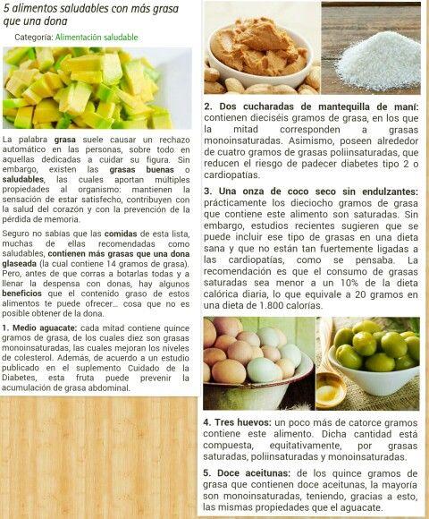 5 alimentos saludables con más grasas que una dona.
