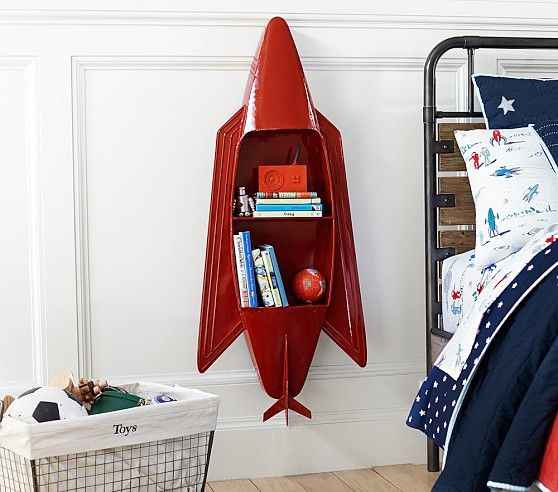 Jumbo Rocket Shelf Pottery Barn Kids Boy S Room