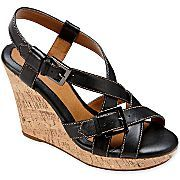 JCP... Eurosoft by Sofft Pandora Leather Wedge Sandals
