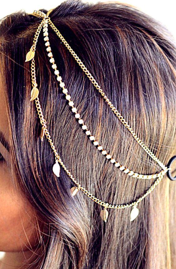 Tiara ou Headband correntes - Pesquisa Google