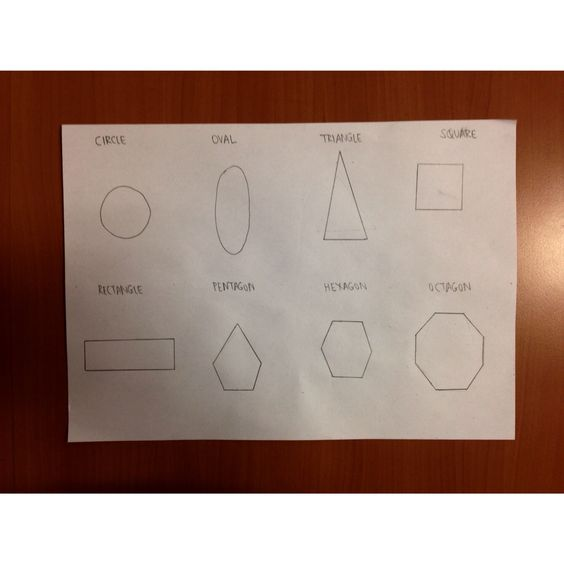 Drawing of Basic Shapes (Circle, Oval, Triangle, Sqaure, Rectangle ...