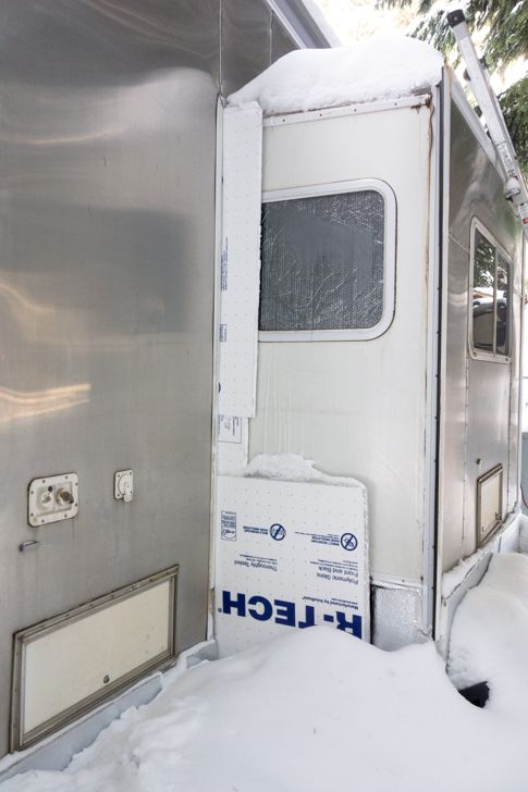 How To Skirt Your Rv In The Winter To Prevent Freezing Rv Winterizing Rv Skirting Camping Supplies
