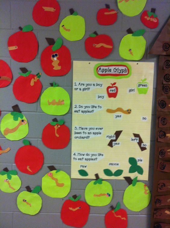 Apple Glyph I Love Glyphs Apple Activities Autumn Teaching Ideas Glyphs