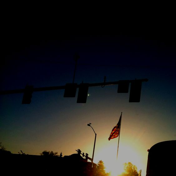 USA flag on the corner of Olympus and Pocatello creek rd on 5-2-12